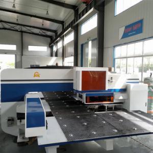 Open Type Cnc Hydraulic Turret Punch Press , Hydraulic Press Punching Machine