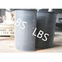 Quality Hydraulic / Electric Winch Drum Lebus Sleeve 100-5000M Rope Capacity wholesale