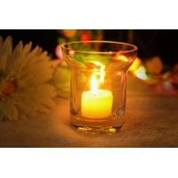 Quality 7Oz Mouth Blown Clear Decorating Glass Candle Holders , Astm wholesale