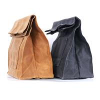 Buy cheap Heavy duty insulated waxed canvas lunch bag from wholesalers