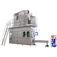 Quality High Speed Beverage Packaging Machine , Aseptic Brick Carton Juice Filling Machine wholesale