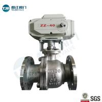 Quality ASME B16.10 Stainless Ball Valve of Petrol Chemical Valve with Electric Actuator wholesale
