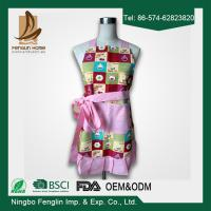 Classical Denim Colorful Soft Home Kitchen Apron 100% Cotton Lace Apron