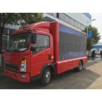 Quality Road Show LED Advertising Truck Howo 4X2 Mobile Stage P5 / P4 For Mobile Advertising wholesale