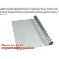 Quality Aluminium laminated foil woven cloth vapor barrier lowes thermal insulation,foil fiberglass cloth,roof sarking,EPE,XPE wholesale