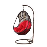 Quality 550mm Width Rattan Swing Chair With Stand wholesale