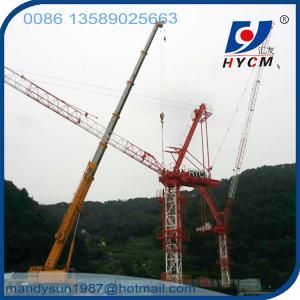 Quality QTD5520 Luffing Jib Tower Crane 18 ton 55m Jib Crane with Crane Cabin wholesale