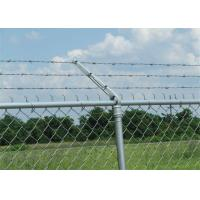 Quality Prison ContinuousTwist Galvanized Barbed Wire with Chain Link Fence wholesale