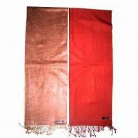 China Viscose Scarves, Measures 180 x 30cm, OEM and Small Orders are Welcome on sale