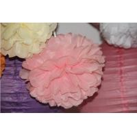 China Tissue Paper Craft Pom Pom Wholesale Round Paper Flower for Wedding on sale