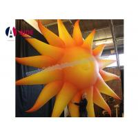 Quality Yellow Inflatable Event Decoration Inflatable Oxford Cloth Large Outdoor Sun wholesale