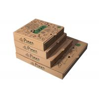 Recycled Pizza Packaging Boxes , Printed Brown Cardboard Food Boxes With Free Sample