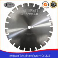 Buy cheap 400mm Laser Welded Diamond Blades , Dry Wet Saw Blades For Highway / Road Works from wholesalers
