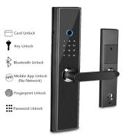 Quality Intelligent Fingerprint Door Lock , Bluetooth Electronic Household Glass Wooden Door Lock wholesale