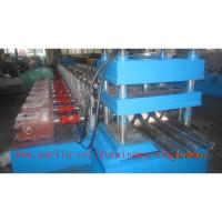 Quality PLC Control Crash Barrie Guardrail Roll Forming Machine , Highway Guardrail Making Line wholesale