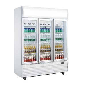 Quality Three Doors Commercial Display Fridges , 1310L Glass Door Beverage Refrigerator,No Frost Fan Cooling Display Fridge wholesale