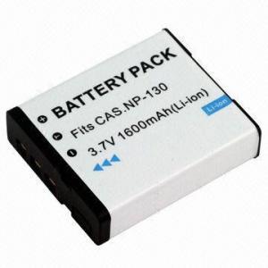 Quality Digital Camera Battery for Casio NP130, 1,600mAh Capacity wholesale