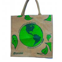 Quality Water Proof Paste Green Earth Gunny Bag, Handle Cotton Weaving Reusable Carrier Bags wholesale