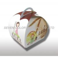 Cheap Compare Custom Cardboard cake Packaging Boxes With Handle, Coated Paper Cake Boxes for sale