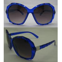 Quality AC / PC Lens Dark Glasses , Blue Plastic Frame Sunglasses wholesale