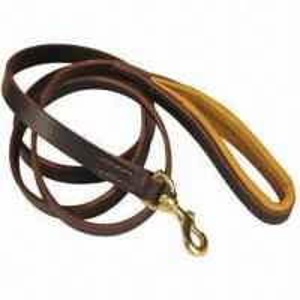 China Brown Genuine Leather Dog Leash, 180cm Length on sale