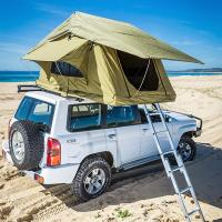 Quality Aluminum Pole Pick Up Roof Tent , Jeep Wrangler Unlimited Roof Top Tent wholesale