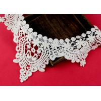 Quality Emrbroidered Cotton Collar Applique With Retro Guipure Lace Pattern Custom wholesale
