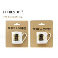 Buy cheap Eco - Friendly Personalized Coffee Mugs Espresso Cup With Kraft Card Package from wholesalers
