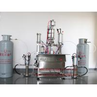 China R22 Refrigerant Freon Filling Machine , Pneumatic Aerosol Can Filling Equipment on sale