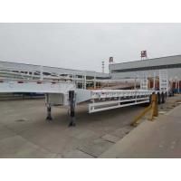 China 4 Axles Heavy Duty Low Bed Semi Trailer With FUWA Axle And 14mm Channel Steel Cross Beam on sale