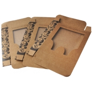China UV Varnish Kraft Paper Underwear Packaging Box With Window on sale
