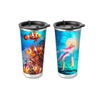 Quality Food Grade 3D Lenticular Printing Service Plastic Kids Drinking Cup wholesale