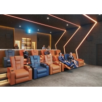 Quality Customize Electric Recliner Leather Sofa Home Cinema System With Projector / Speaker wholesale