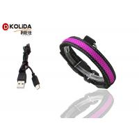 Quality Purple / Green USB Rechargeable LED Dog Collar Waterproof Flashing Dog Collar wholesale