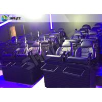 Quality SGS Certification 5D Cinema Movies Theater 3 Seat Black Motion Chairs Genuine Leather wholesale