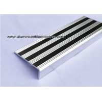 China Replaceable Aluminum Non Slip Stair Treads Anodized Shiny Silver on sale