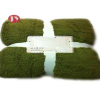 Quality Custom Sherpa Polyester Fleece Blanket With selectable plain Colors Eco - Friendly wholesale