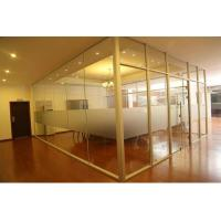 Quality Modern Aluminum Glass Office Partitions Easy Assembly Heat Insulation wholesale