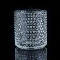 Quality Clear Nail glass candle holders for wedding , glass flower candle holder wholesale