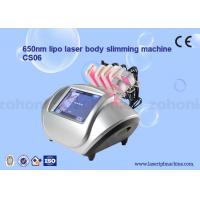 China S06 diode lipo laser Cryolipolysis Slimming Machine / Low Level Laser Therapy on sale