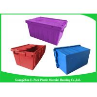 Blue  PP Plastic Attached Lid Containers , plastic storage boxes with lids