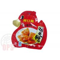 China Die Cut Irregular Shaped Plastic Snack Food Grade Packaging Bags With Spout on sale