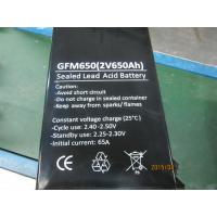 Quality Long Life 650Ah 2V Lead Acid Battery With Low Self - Discharge GFM650 wholesale