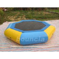 Quality Customized 0.9mm PVC Tarpaulin Inflatable Floating Trampoline For Kids Games wholesale