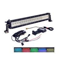 Quality Bluetooth Control Wholesale  5d RGB jeep Led Light Bar Driving Light 22 Inch Off road wholesale