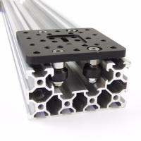 China V Slot Aluminum 6063 T-5 C Beam Liner Rail 250mm - 1500mm Long Silver Anodized on sale