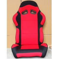 Buy cheap Black And Red Sport Racing Seats Universal Cars Parts Foldable With Safety Belts from wholesalers