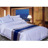 China Disposable Hotel Bed Linen Oxford Style With 115GSM,200TC And Polycotton on sale