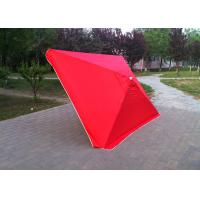 Quality 4 Ribs Red Rectangular Outdoor Umbrella 2.3mx3.1m For Tea Shop Advertising wholesale