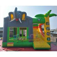 Buy cheap SGS TUV Inflatable Bouncer Slide / Blow Up Trampoline With Slide Jumping Bouncer from wholesalers